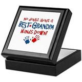 Hands Down Best Grandpa Keepsake Box
