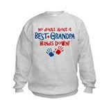 Hands Down Best Grandpa Sweatshirt