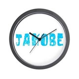 Jakobe Faded (Blue) Wall Clock