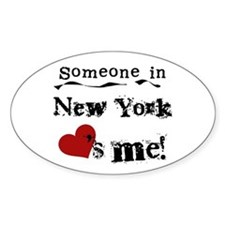 Someone in New York Oval Decal