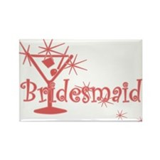 Red C Martini Bridesmaid Rectangle Magnet