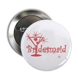 "Red C Martini Bridesmaid 2.25"" Button"