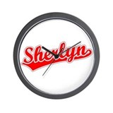 Retro Sherlyn (Red) Wall Clock