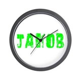 Jakob Faded (Green) Wall Clock