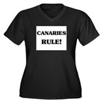 Canaries Rule Women's Plus Size V-Neck Dark T-Shir