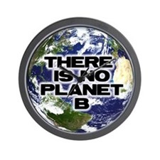 No Planet B Wall Clock