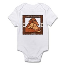 Dachshund Mom Hug Infant Bodysuit