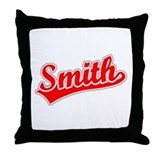 Retro Smith (Red) Throw Pillow