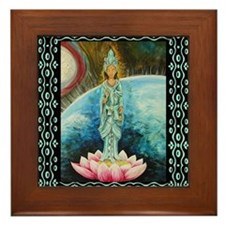 Quan Yin Framed Tile