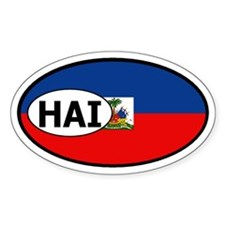 Haiti Flag Oval Decal