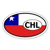 Chile Flag Oval Decal