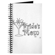 White C Martini Bride's Mom Journal