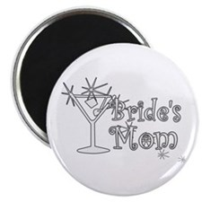 White C Martini Bride's Mom Magnet