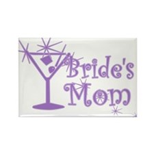 Purple C Martini Bride's Mom Rectangle Magnet