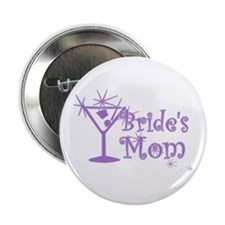 "Purple C Martini Bride's Mom 2.25"" Button"