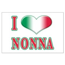 I Love Nonna Large Poster