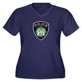 Newport News Police Women's Plus Size V-Neck Dark