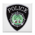 Newport News Police Tile Coaster