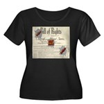 Bill of Rights Women's Plus Size Scoop Neck Dark T
