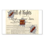 Bill of Rights Rectangle Sticker 50 pk)
