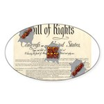 Bill of Rights Oval Sticker (50 pk)