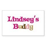 Lindsey's Buddy Rectangle Decal