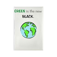 Green Is New Black Rectangle Magnet (100 pack)