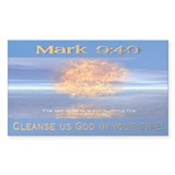 Mark 9:49 Rectangle Decal