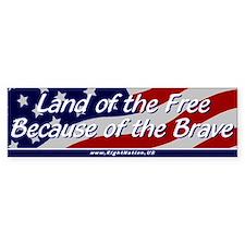 Land of the Free Bumper Sticker