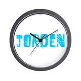 Jorden Faded (Blue) Wall Clock