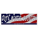 Duty, Honor, Country Bumper Sticker