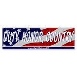 Duty, Honor, Country Bumper Sticker