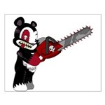 Teddy Bear with chainsaw Small Poster