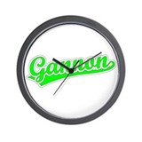 Retro Gannon (Green) Wall Clock