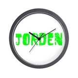 Jorden Faded (Green) Wall Clock