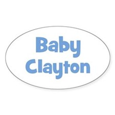 Baby Clayton (blue) Oval Decal