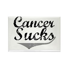 Cancer Sucks (Grey) Rectangle Magnet