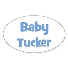 Baby Tucker (blue) Oval Decal