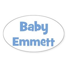 Baby Emmett (blue) Oval Decal