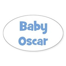 Baby Oscar (blue) Oval Decal