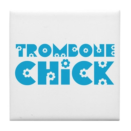 Trombone Chick Tile Coaster