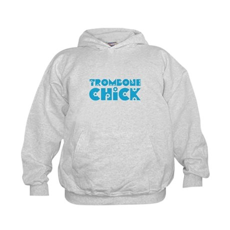 Trombone Chick Kids Hoodie
