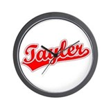 Retro Tayler (Red) Wall Clock