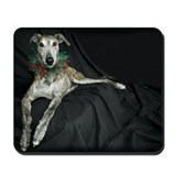 Brindle Christmas Jester Grey Mousepad