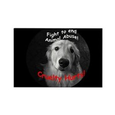 Cruelty Hurts! Rectangle Magnet (10 pack)