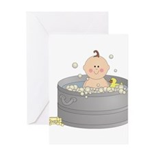 Bathtime Baby Greeting Card