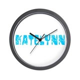 Katelynn Faded (Blue) Wall Clock