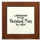 Librarian Devoted Mom Framed Tile