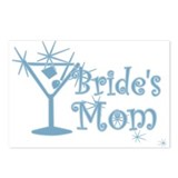 Blue C Martini Bride's Mom Postcards (Package of 8