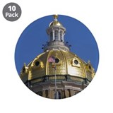 "Iowa State Capitol Dome 3.5"" Button (10 pack)"